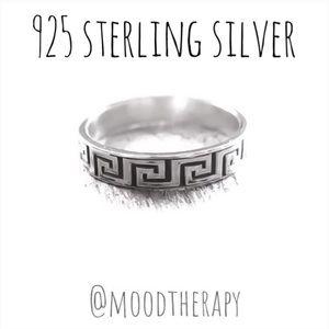 Greek Key Pattern Band Ring
